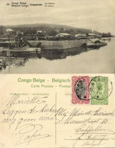 belgian congo, LEOPOLDVILLE, The Quays (1922) Postcard (46)