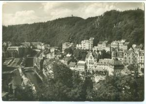 Czech Republic, KARLOVY VARY, The Spa, 1959 used real photo Postcard
