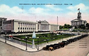 Tennessee Nashville War Memorial Building and State Capitol 1942