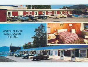 Unused Pre-1980 PLANTE MOTEL Gaspe Quebec QC o0354