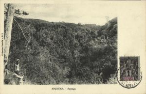 comoros comores, Sultanate of Ndzuwani ANJOUAN, Paysage Landscape 1910 Postcard