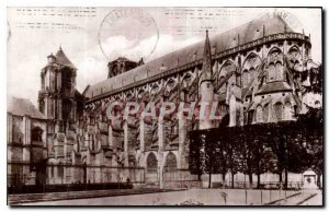 Old Postcard Bourges La Cathedrale view from the Hotel de Ville garden