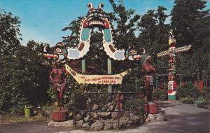VANCOUVER, British Columbia, Canada, 1940-1960's; The Famous Indian Wishing Well