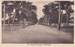 DAHOMEY , Avenue de Cocotiers - COTONOU , 00-10s