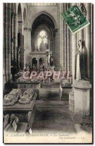 Old Postcard L & # 39Abbaye Of Saint Denis Tombs View d & # 39ensemble