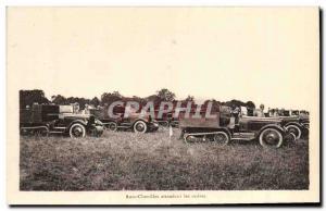 Postcard Modern Army world war 2 Autoc caterpillars awaiting orders