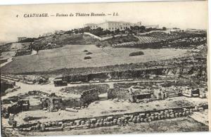 CPA Tunisie Carthage Ruines du Theatre Romain (22061)