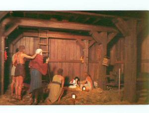 Postcard Nativity Jesus in Manger Prince of Peace Memorial Silver Springs Flo...
