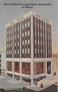 Home Federal Savings & Loan Association of Macon Macon, Georgia, USA Unused v...