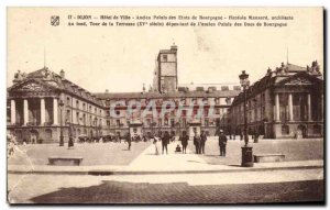 Postcard Dijon Old Town Hotel Old Palace Burgundy States