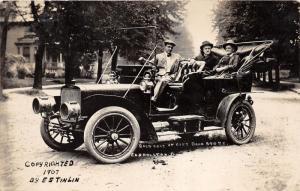 E84/ Carrollton Ohio RPPC Postcard 07 General Eckley Dr Moody Old Automobile 5