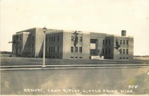 Little Falls MN~Camp Ripley~National Guard? Armory~Real Photo Postcard c1950