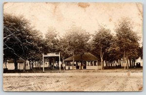 Fremont NE~Fremont Tourist Camp~Welcome Sign~Belle: Rip-Roaring Time~1923 RPPC