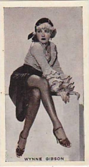 Phillips Vintage Cigarette Card Stage &amp  Cinema Beauties 1933 No 4 Wynne G...