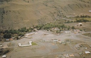 CACHE CREEK, British Columbia, Canada, 1940-60s; Aerial View of Hotel Oasis, ...