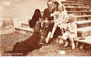 King of Norway and Family RP 1934