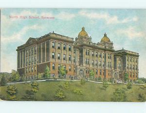 Divided-Back NORTH HIGH SCHOOL Syracuse New York NY k0588