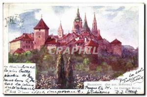 Old Postcard The Royal Castle Hradcany