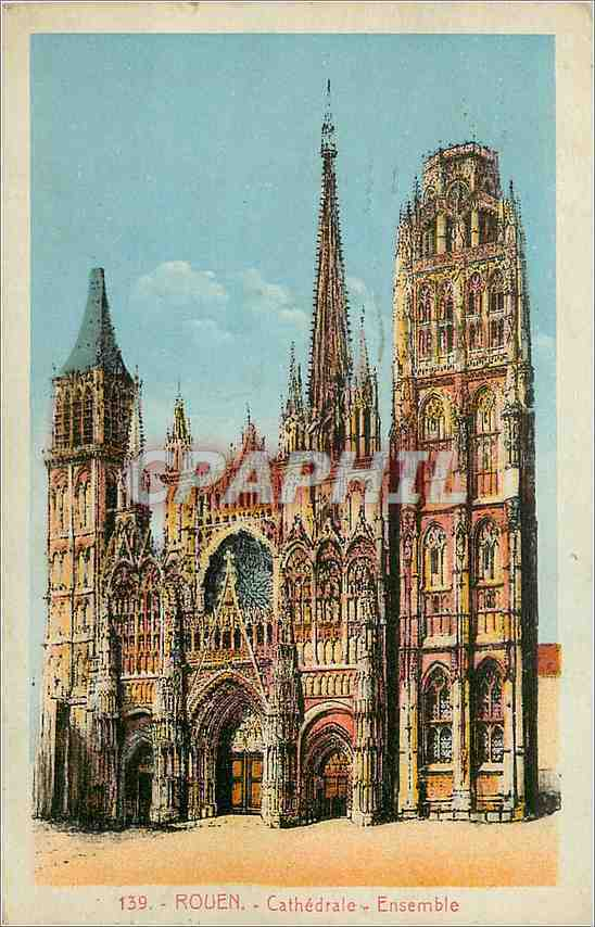 cpa rouen cathedrale ensemble hippostcard. Black Bedroom Furniture Sets. Home Design Ideas