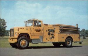 Harmony Corner NY Boyer Pumper Fire Engine c1970s Postcard