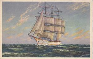 Sailing Vessel in the open ocean, 00-10s