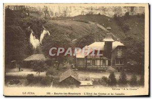 Old Postcard Jura Baume les Messieurs Hotel Caves and Waterfalls