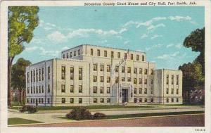 Arkansas Fort Smith Sebastian County Court House And City Hall Albertype