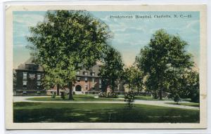 Presbyterian Hospital Charlotte North Carolina 1920s postcard