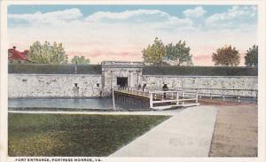 Virginia Fortress Monroe Fort Entrance