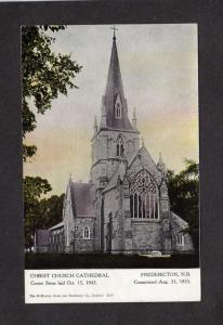 NB Christ Church Cathedral Fredericton New Brunswick Canada Carte Postale PC