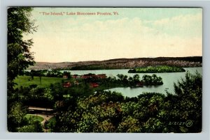Proctor VT-Vermont, The Island, Lake Bomoseen, Vintage Postcard
