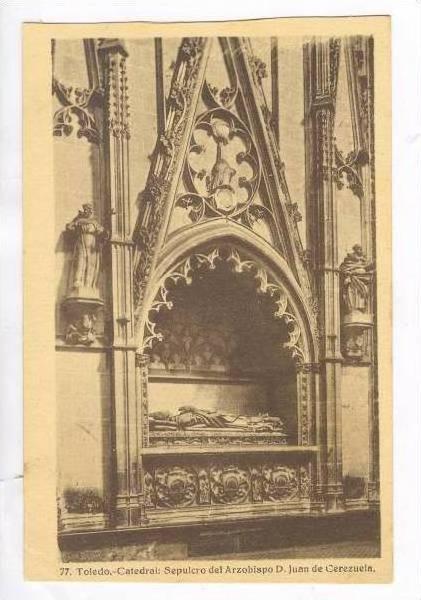 Catedral, Sepulcro Del Arzobispo D. Juan De Cerezuela, Toledo, Spain, 1900-1910s
