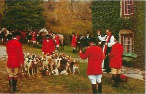 Lexington, KY Iroquois Hunt Club, Grimes Mill Blessing of the Hounds Postcard