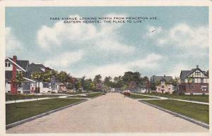Michigan Eastern Heighs Park Avenue Looking North From Princeton Avenue Easte...