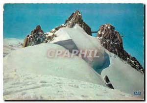 Old Postcard Chamonix from the Aiguille du Midi