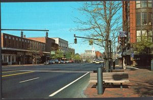 New Hampshire ~  NASHUA Main Street looking North Cars Store Fronts 1950s-1970s