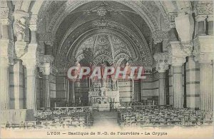 Postcard Old Lyon Basilica of Fourviere N D Crypt