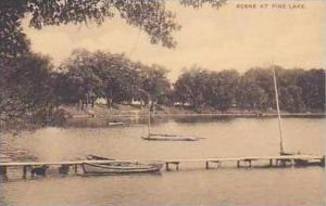 Michigan Scene at Pine Lake