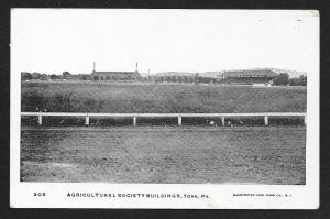 Agricultural Society Buildings & Race Track York Pennsylvania Unused c1905