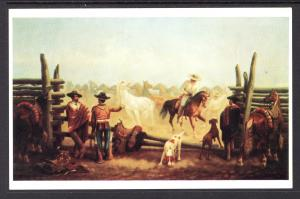 Horse Corral and Gauchos,James Walker