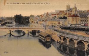 France Le Mans Vue Partielle, Les Ponts sur la Sarthe Bridges River