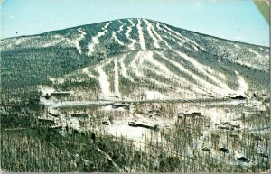 Aerial View Stratton Mountain VT Ski Runs Vintage Postcard S20