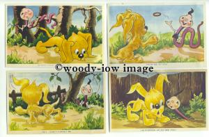 su2567 - 6 postcards - Pogo & Willie Series by Olive Jukes
