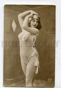 3135538 Semi-NUDE Woman Plump BELLE Vintage PHOTO JA #040 PC