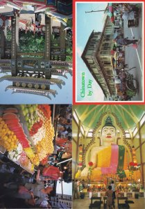 Singapore Chinatown Tiger Balm Garden Fruit Market Stall 4x Postcard s