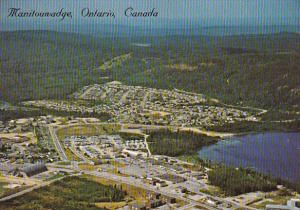 Canada Aerial View Manitouwadge Ontario