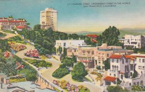 California San Francisco Lombard Street Crookedest Street In The World 1953