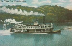 The Valley Gem Sternwheeler Steamer - Zanesville, Ohio - DB