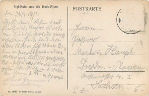 Postcard Switzerland Rigi kulm