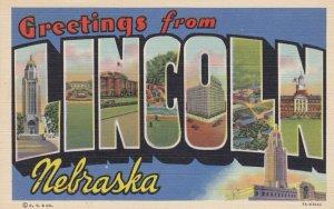 Large Letter LINCOLN , Nebraska , 1930-40s